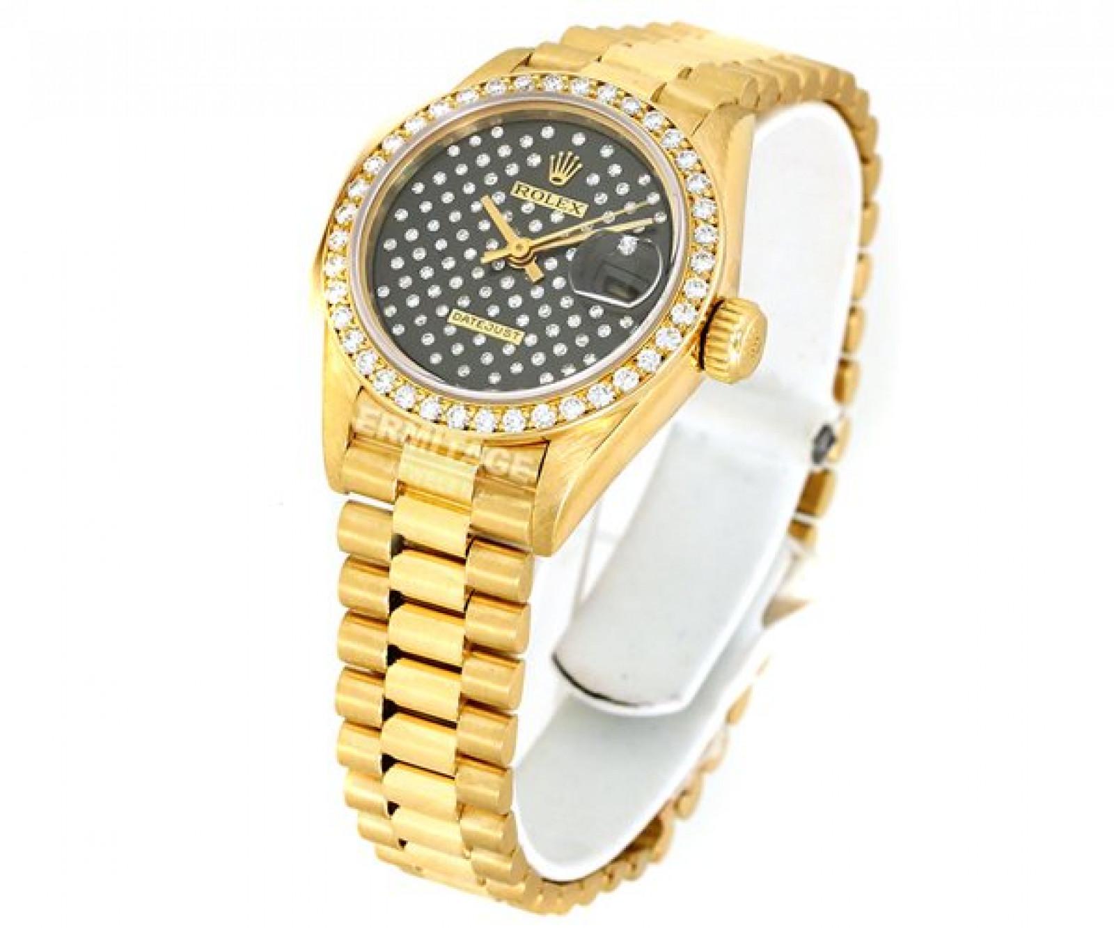 Black Diamond Bezel & Dial Rolex Datejust 69138
