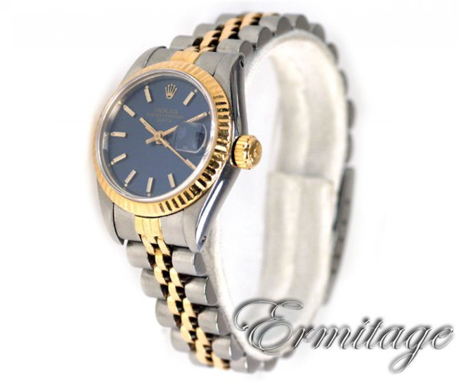 Rolex Datejust 69173 Gold & Steel With Blue Dial