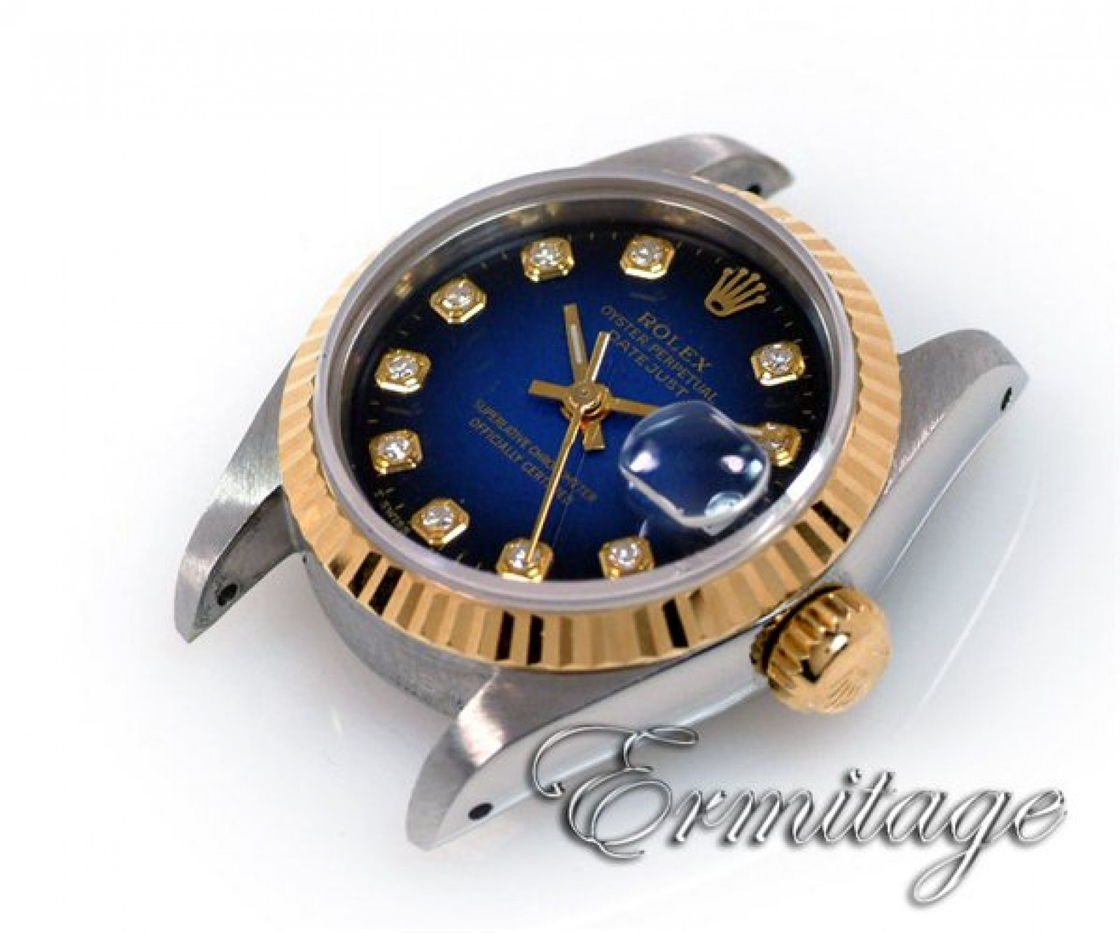 Rolex Datejust 69173 with Diamonds on Blue Dial