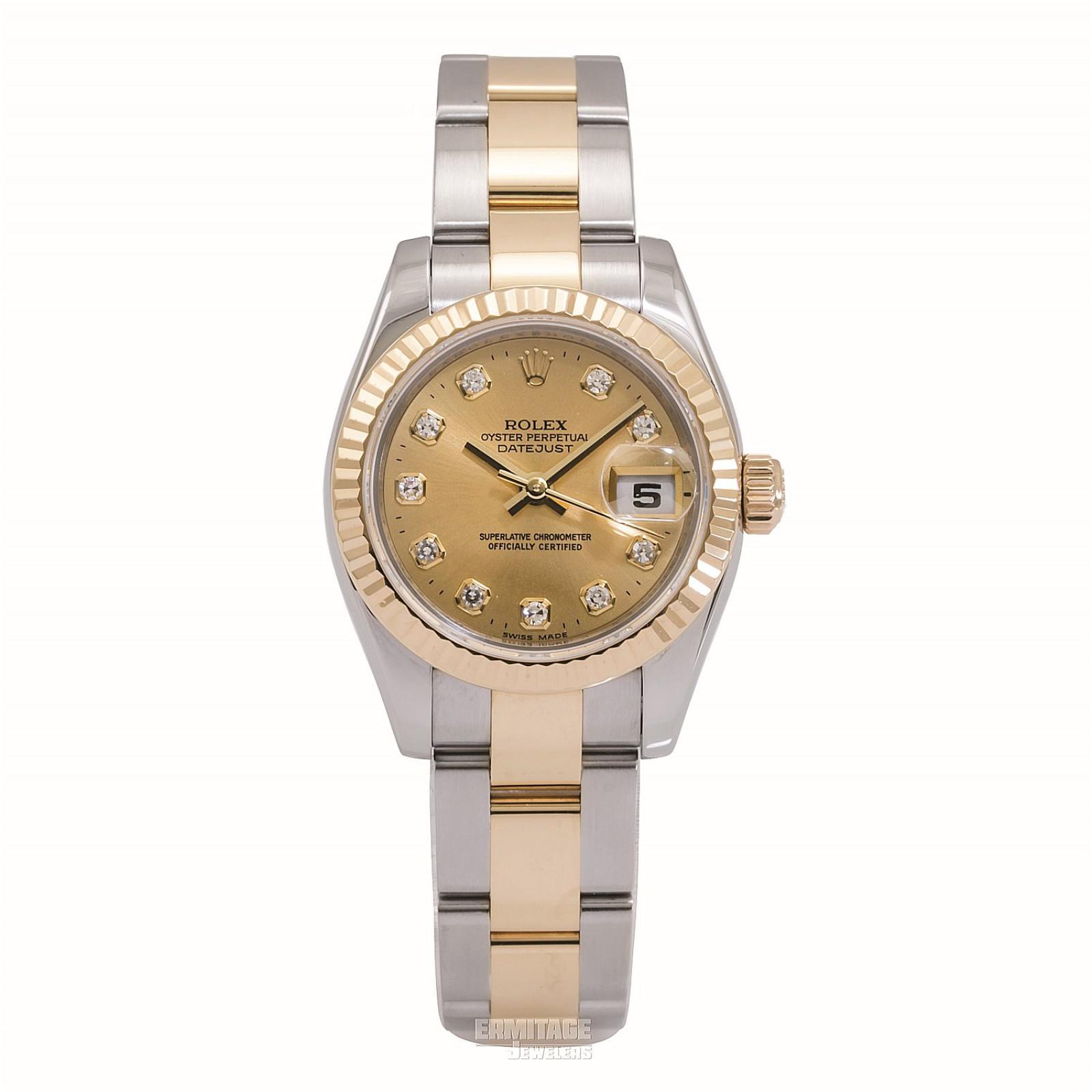 2009 Champagne Rolex Datejust Ref. 179173