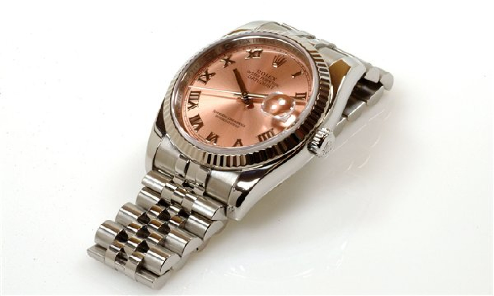 Rolex Datejust 116234 Steel with Rose Dial & Roman Markers