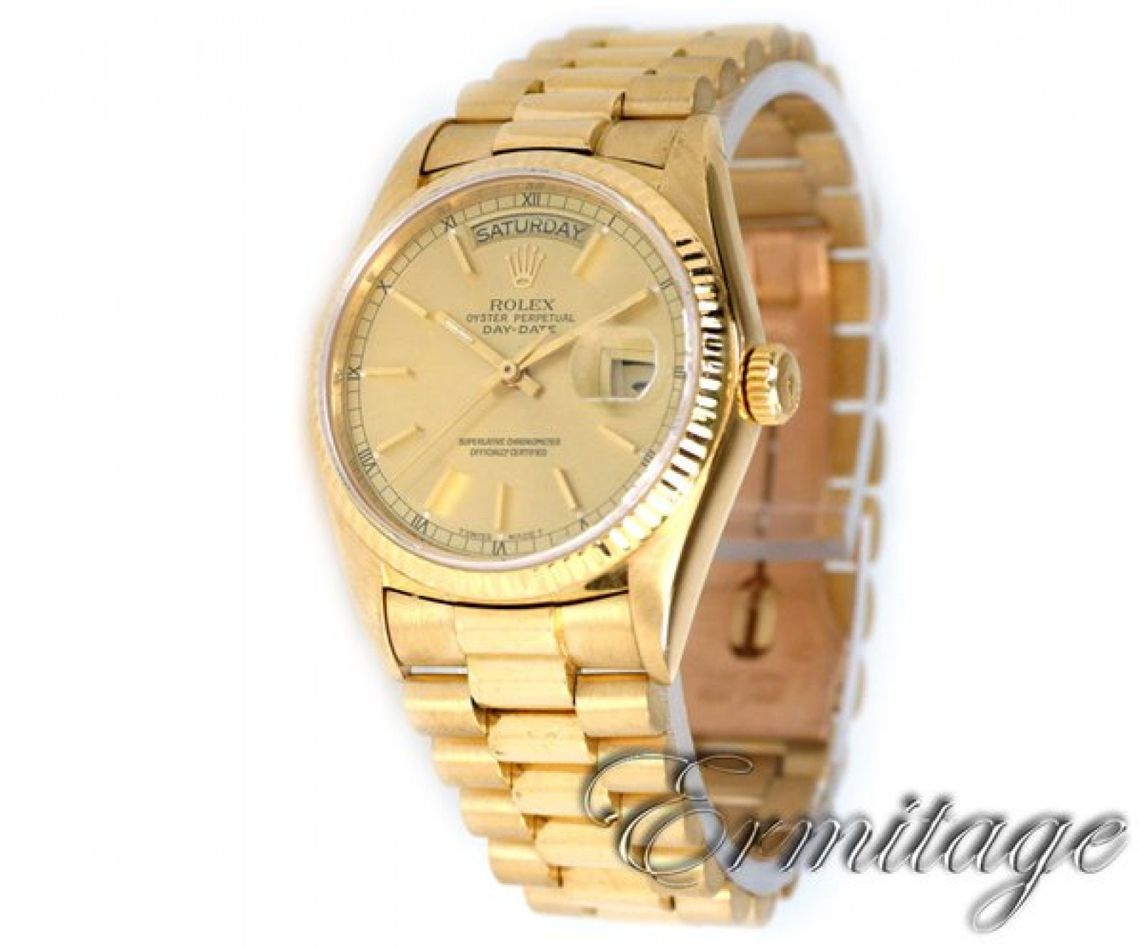 Rolex President Day-Date 18038 Gold Champagne 1986