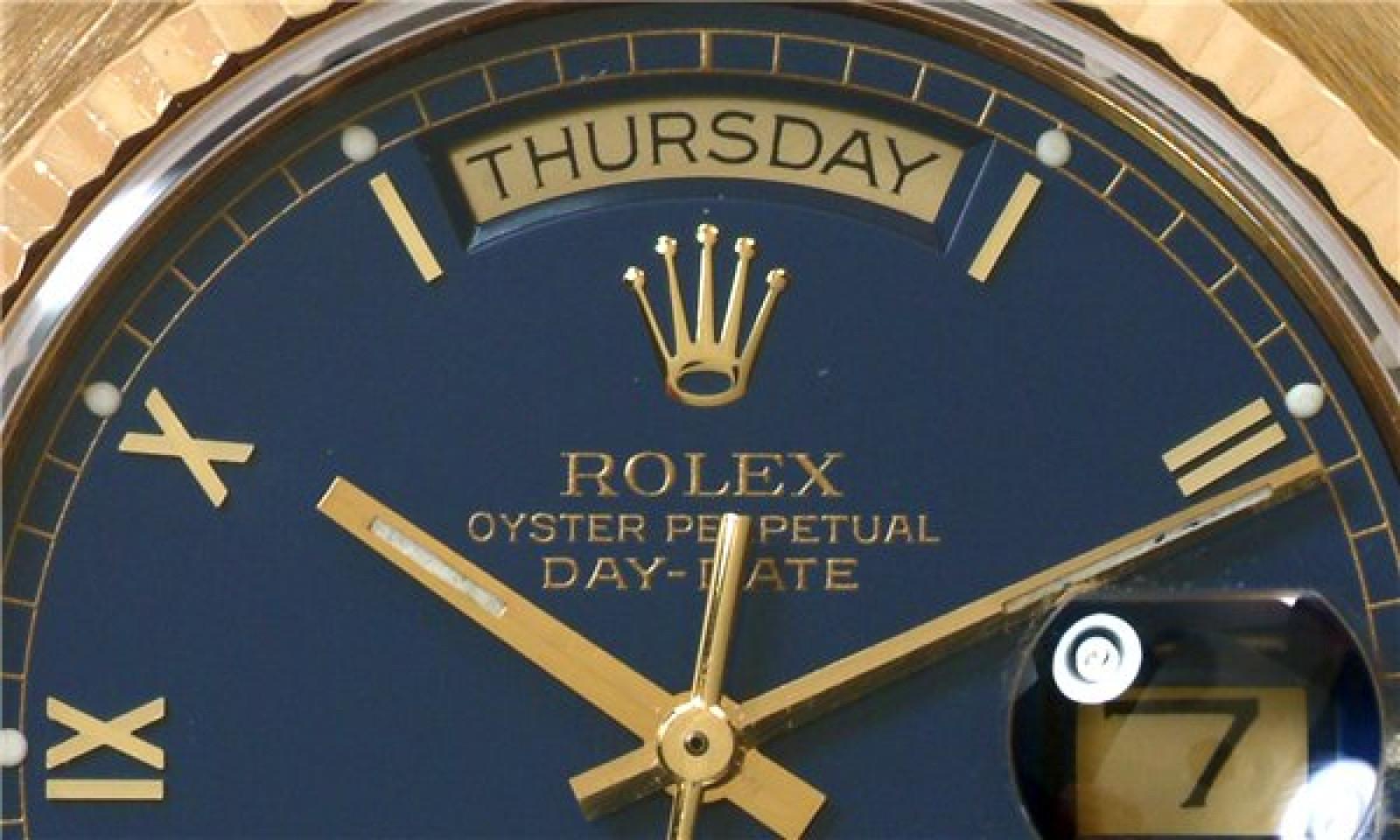 Rolex Day-Date 18038 Gold Blue