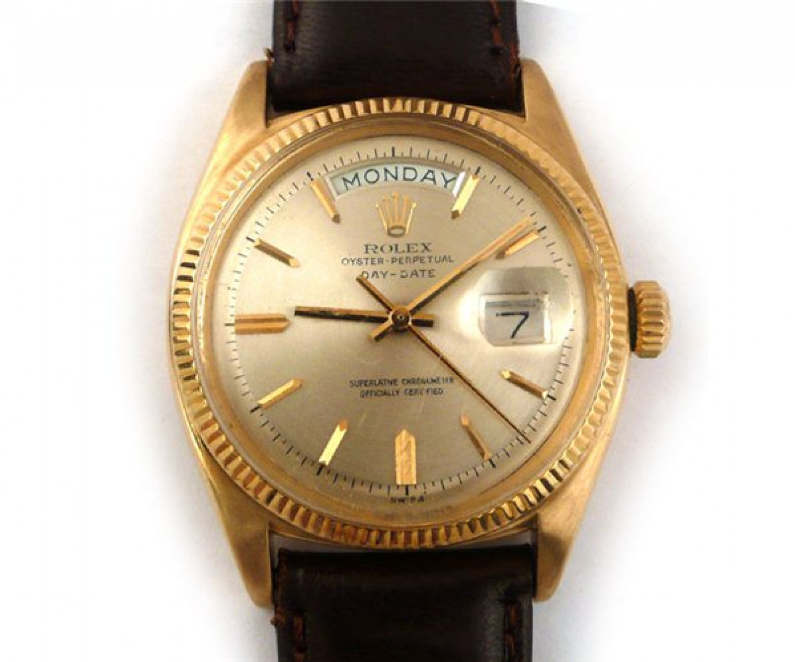 Vintage Rolex Day-Date 6611 Gold Champagne with Champagne Dial
