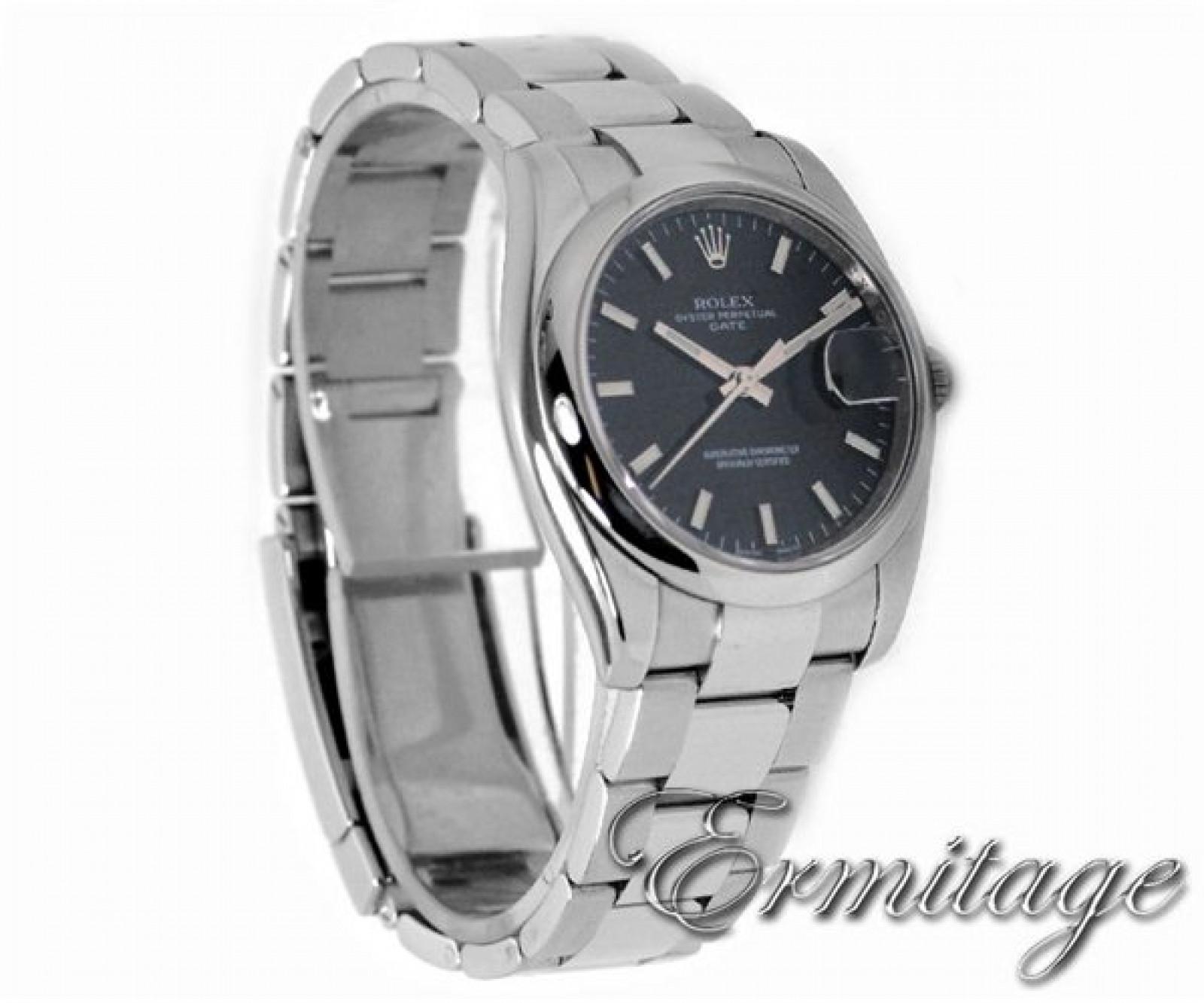 Rolex Date 115200 Steel Black 2010