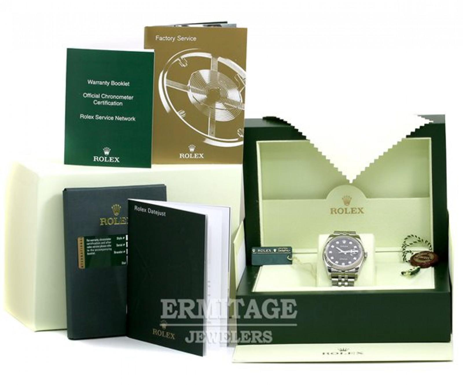 Black Diamond Dial Rolex Datejust 116234