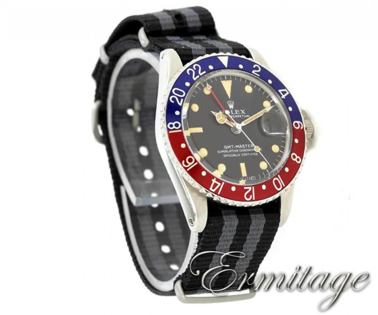 Vintage Pepsi Style Vintage Rolex GMT-Master 1675 Steel Year 1967