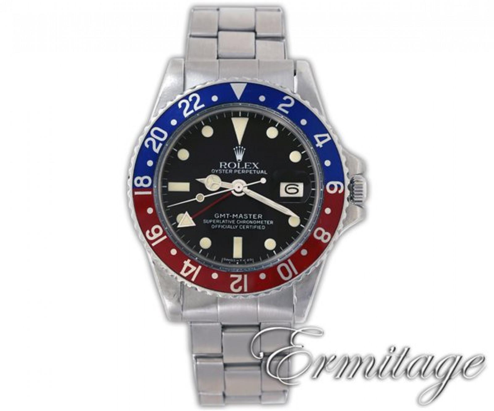Vintage Rolex GMT-Master 1675 Steel 1977