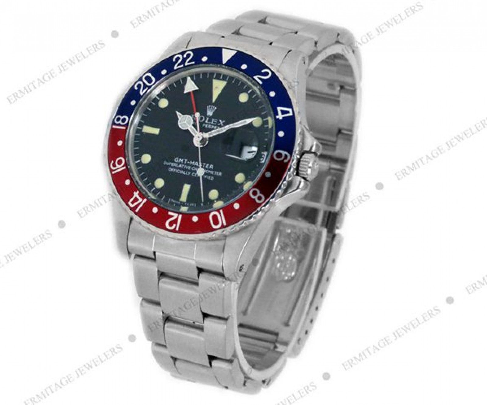 Vintage Rolex GMT-Master 1675 Pepsi Style Bezel with Black Dial 1970