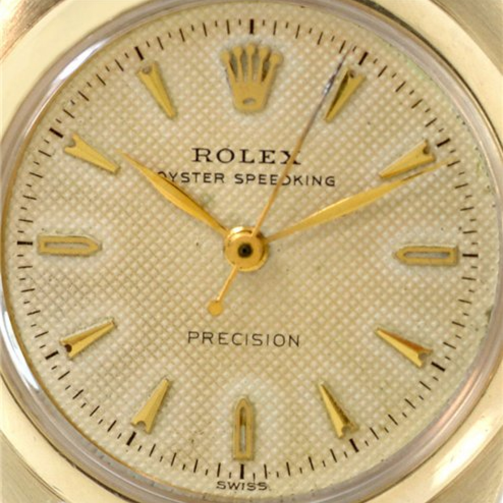 Vintage Rolex Oyster Speedking 6020 Gold with Champagne Dial