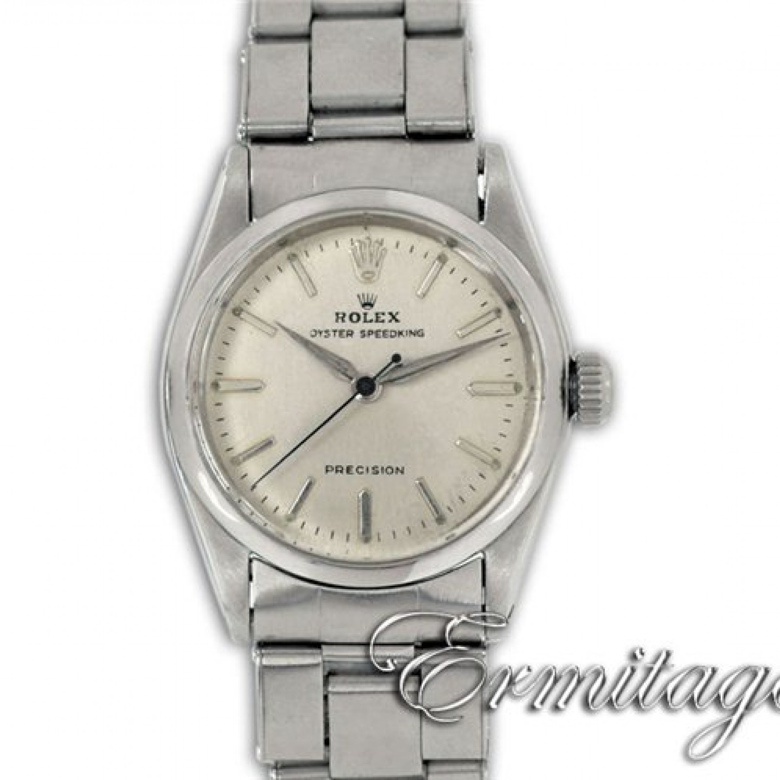 Vintage Rolex Oyster Speedking 6420 Steel with Silver Dial