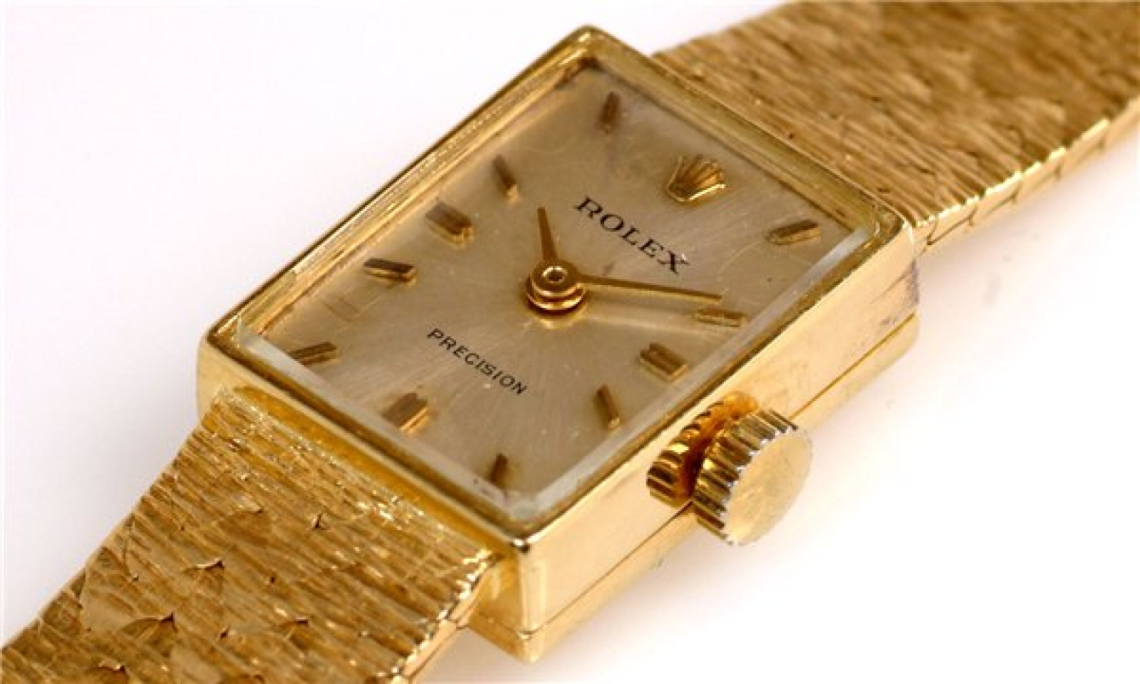 Vintage Rolex Precision 173J Gold with Silver Dial