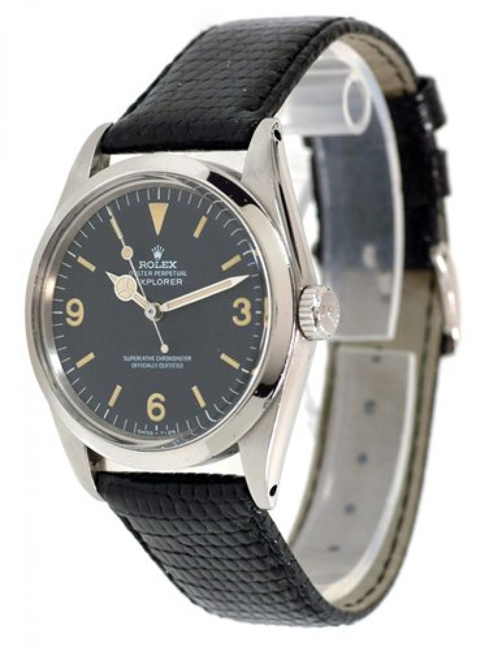 Vintage Rolex Explorer 1016 Steel with Black Dial 1970