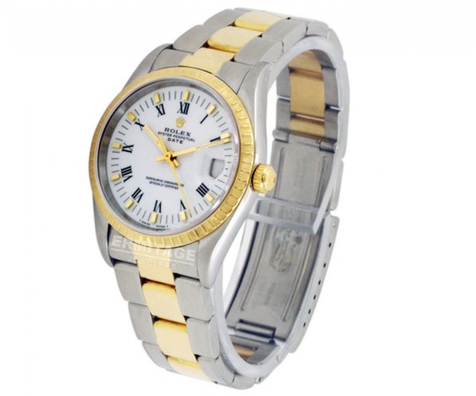 Pre-Owned Rolex Date 15223 Gold & Steel