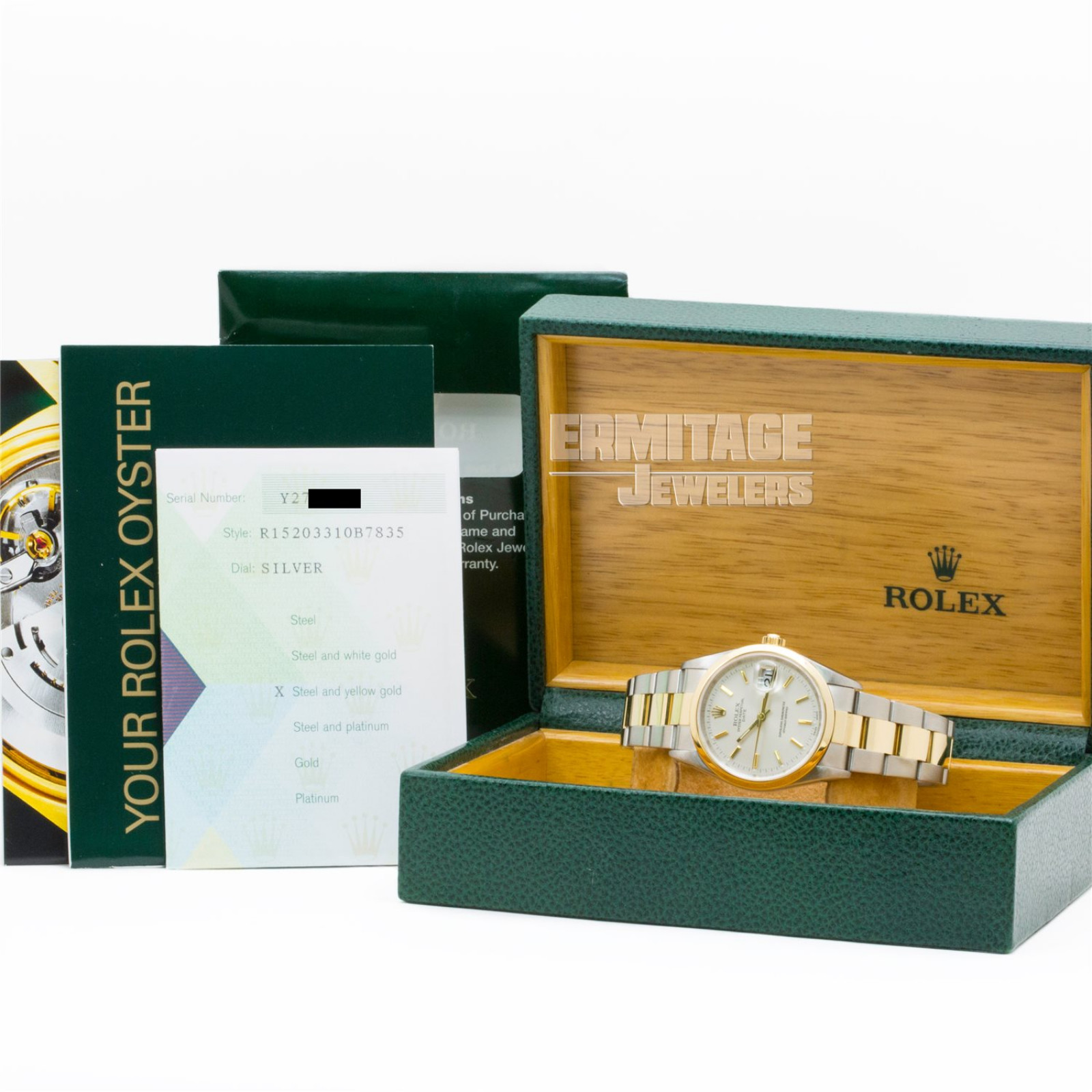 Gold & Steel on Oyster Rolex Date 15203 34 mm