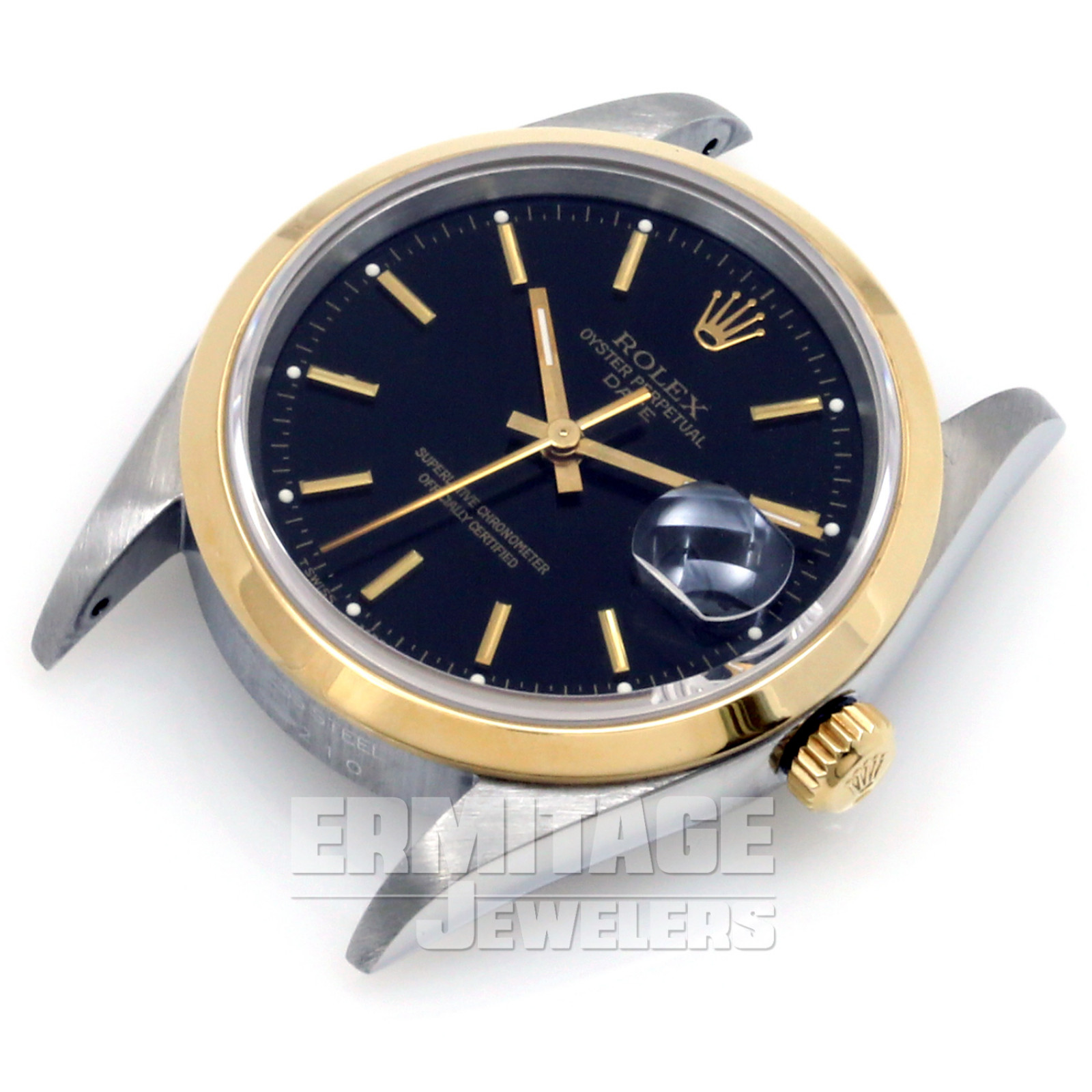 Pre-Owned Rolex Date 15203 with Black Dial