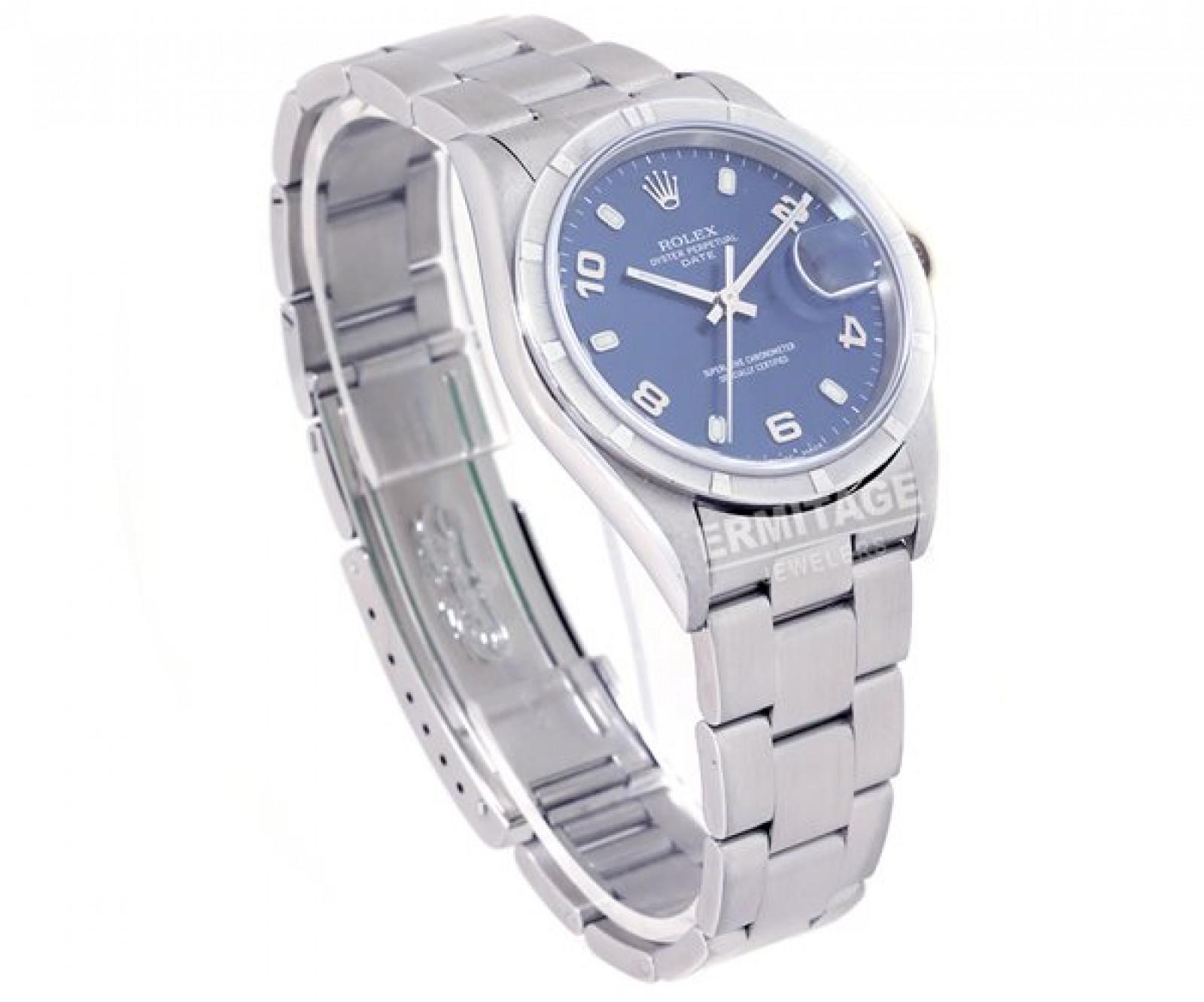 Rolex Date 15210 Steel Blue 2004