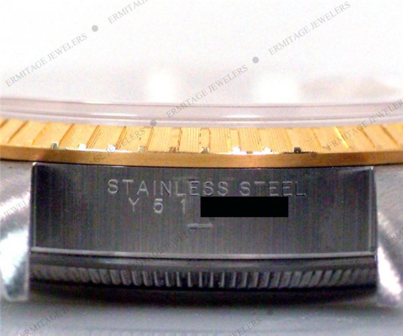 Rolex Date 15223 Gold & Steel Silver Dial 2003