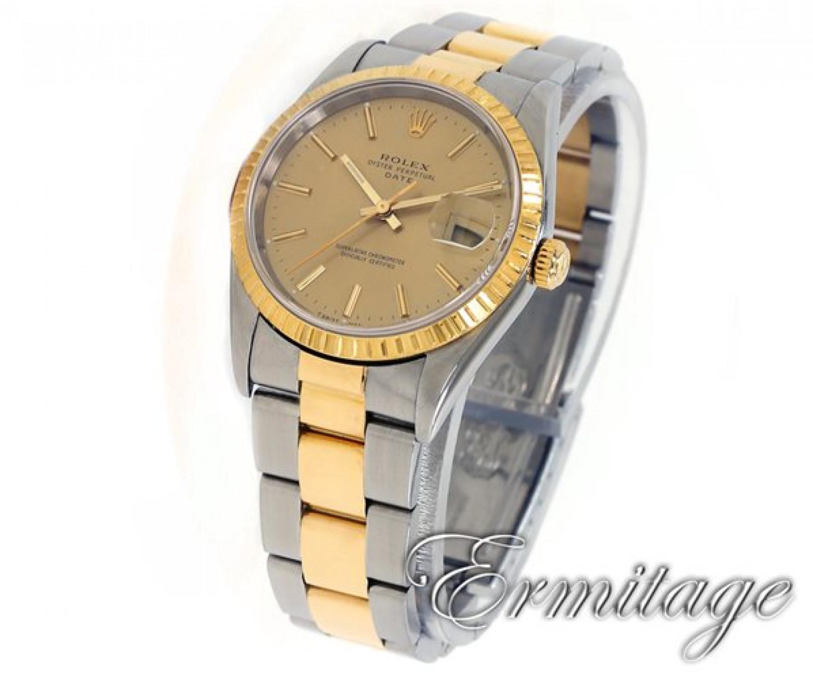 Rolex Date 15223 Gold & Steel Champagne 2000