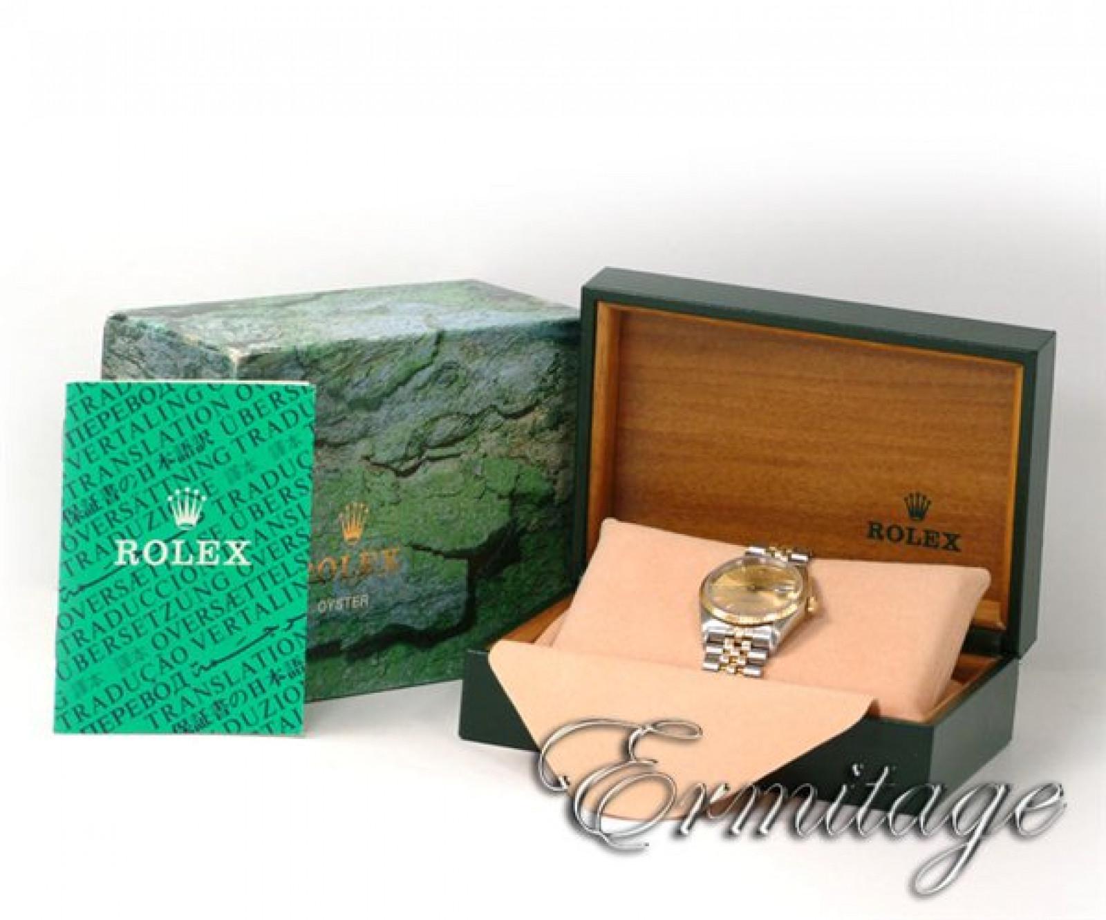 Rolex Date 15223 Gold & Steel Champagne 1990
