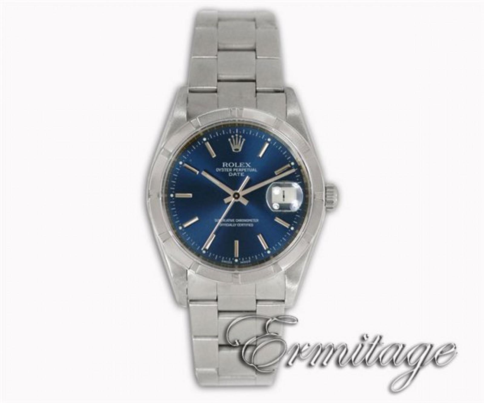 Rolex Date 15210 Steel Blue 2005