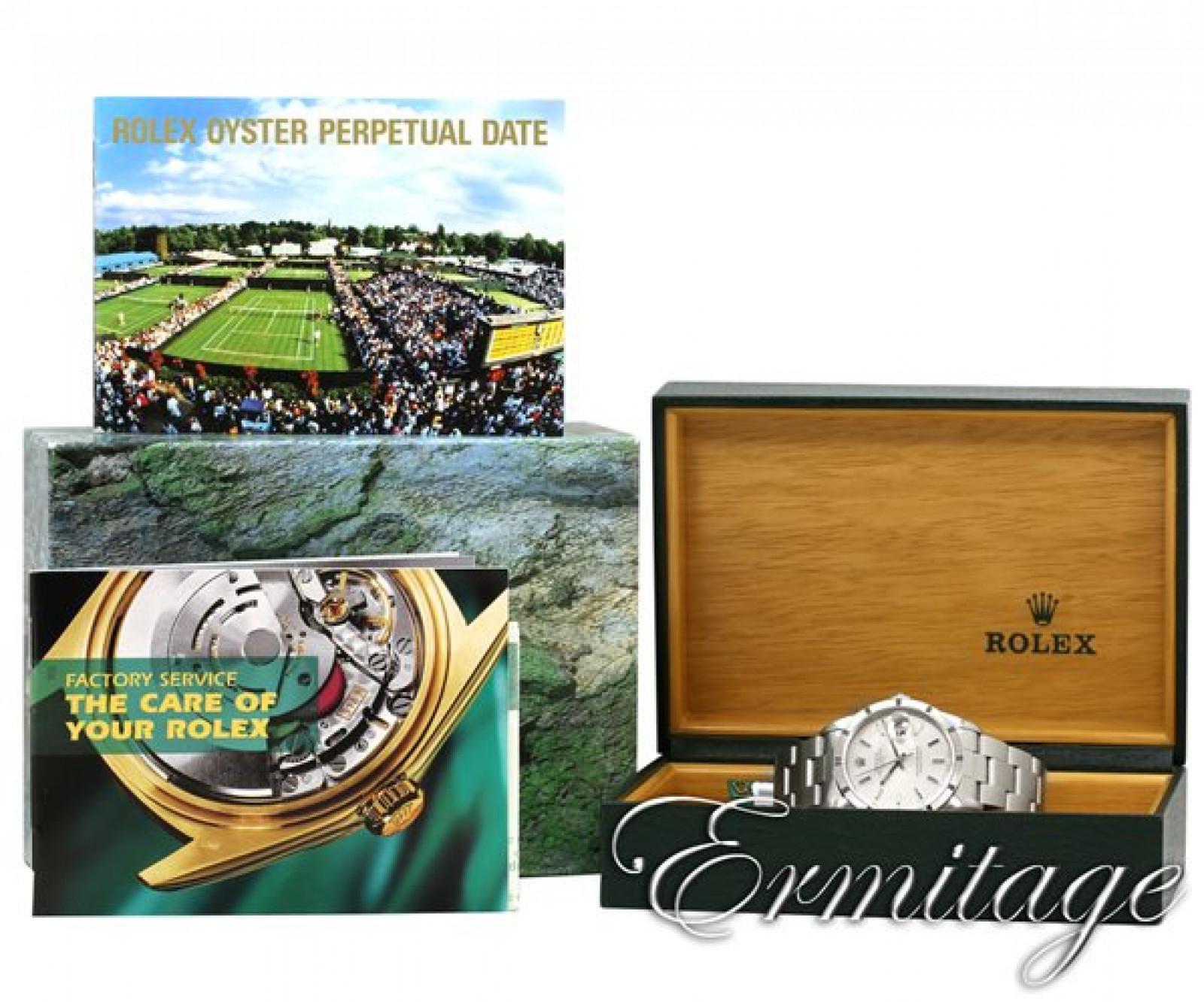 Rolex Date 15210 Steel Silver Dial 2001