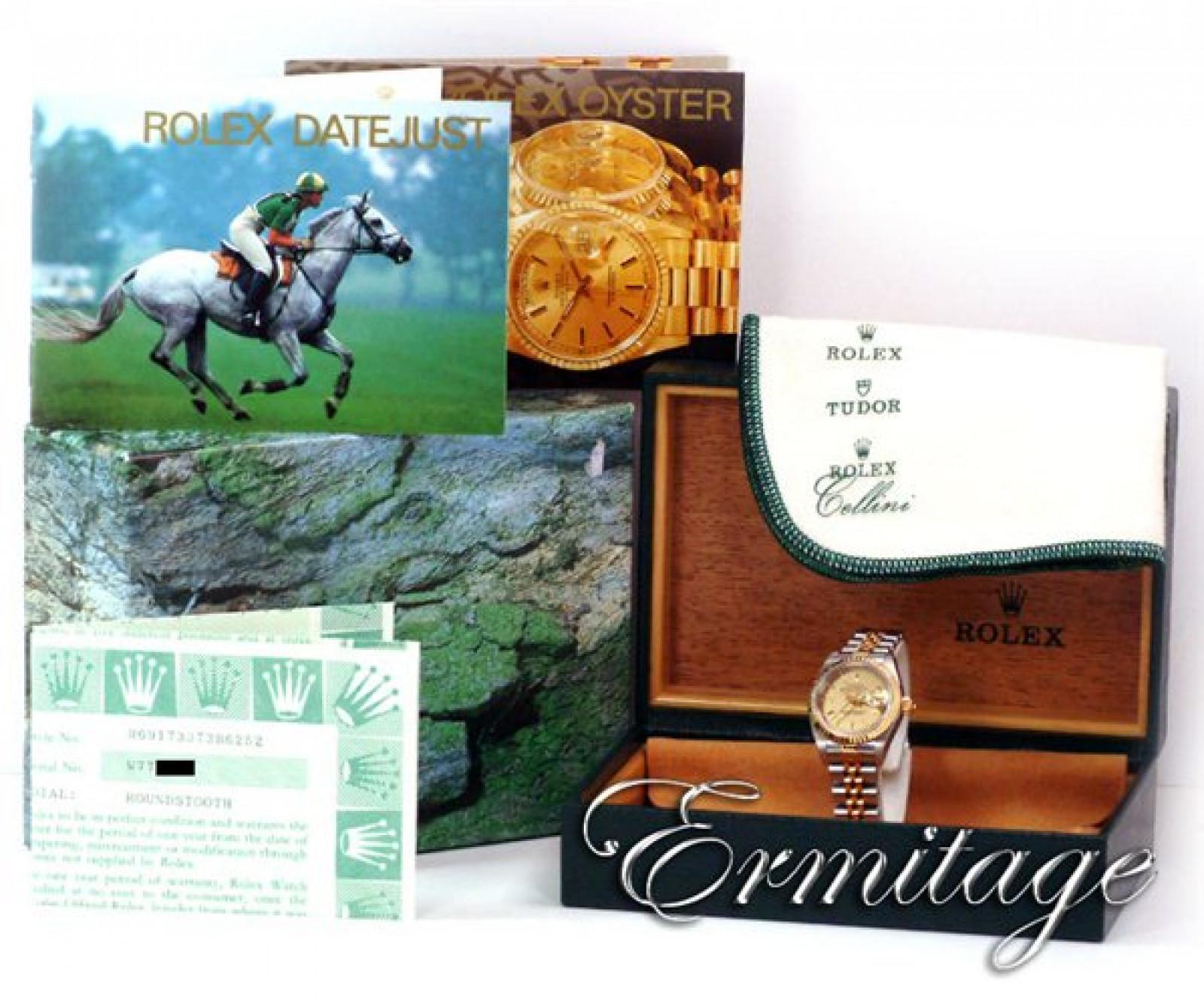 Rolex Datejust 69173 Gold & Steel Champagne