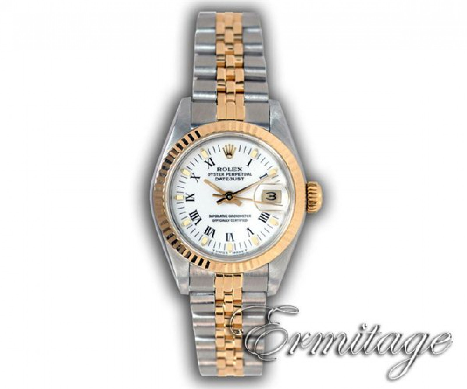 Rolex Datejust 69173 Gold & Steel with White Dial Year 1987