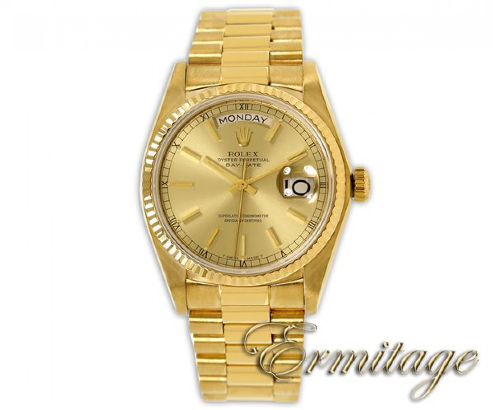 Pre-Owned Rolex Day-Date 18038 Gold Champagne