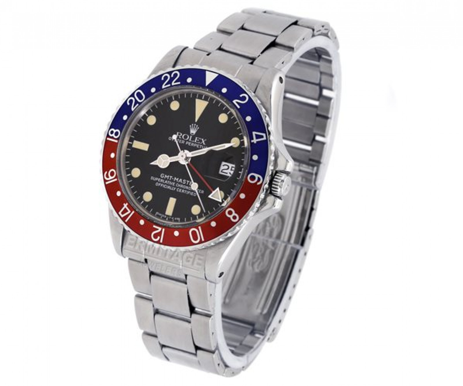 Vintage Rolex GMT-Master 1675 Steel Year 1968 with Black Dial 1968
