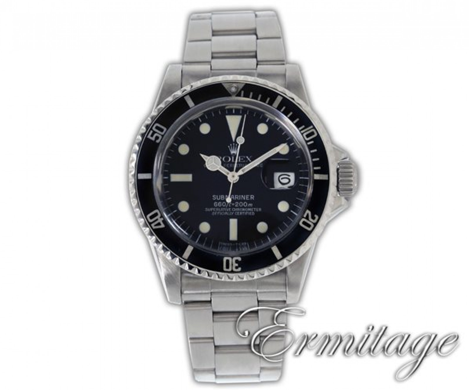 Vintage Rolex Submariner 1680 Steel 1970 with Black Dial
