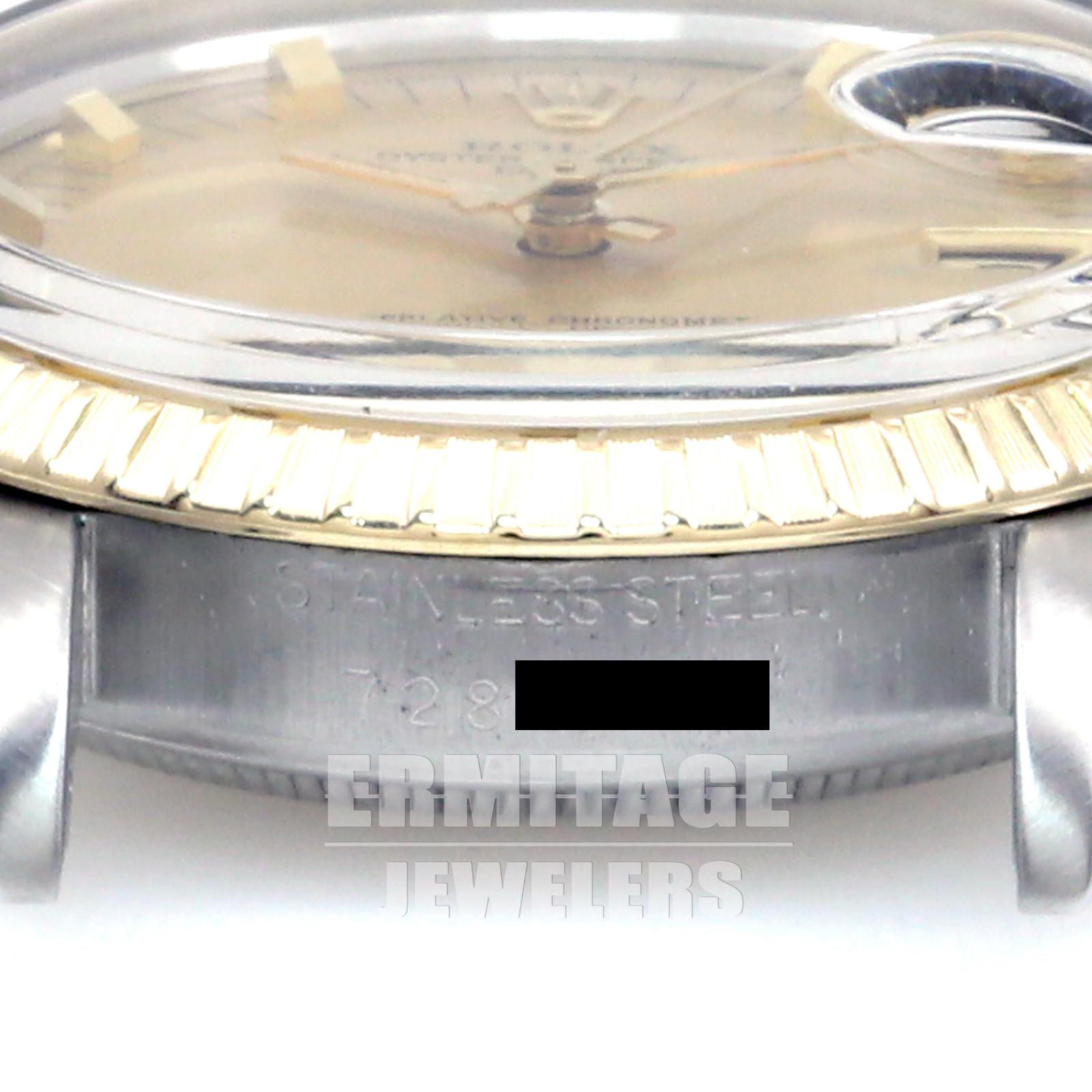 Rolex Mens Date 15053 Gold & Steel