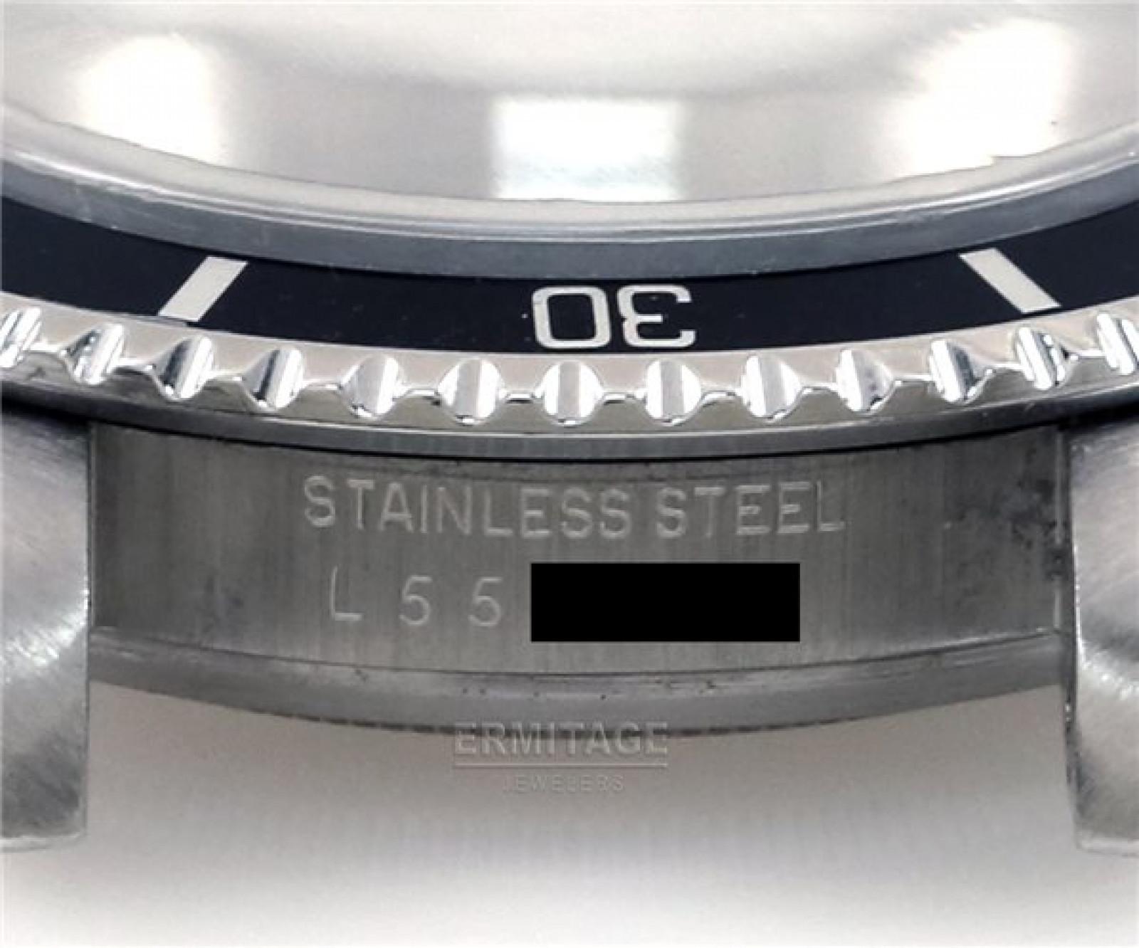 Vintage Rolex Submariner 5513 Steel 1989 40 mm