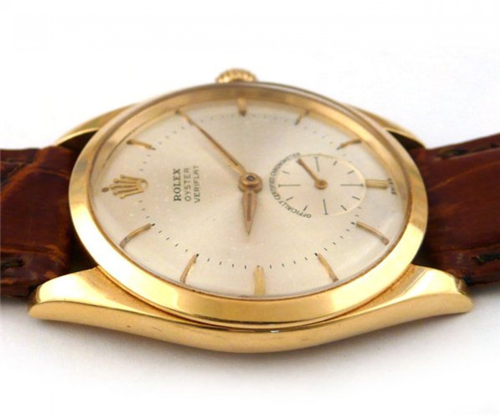 Vintage Rolex Veriflat 6512 Gold with Silver Dial