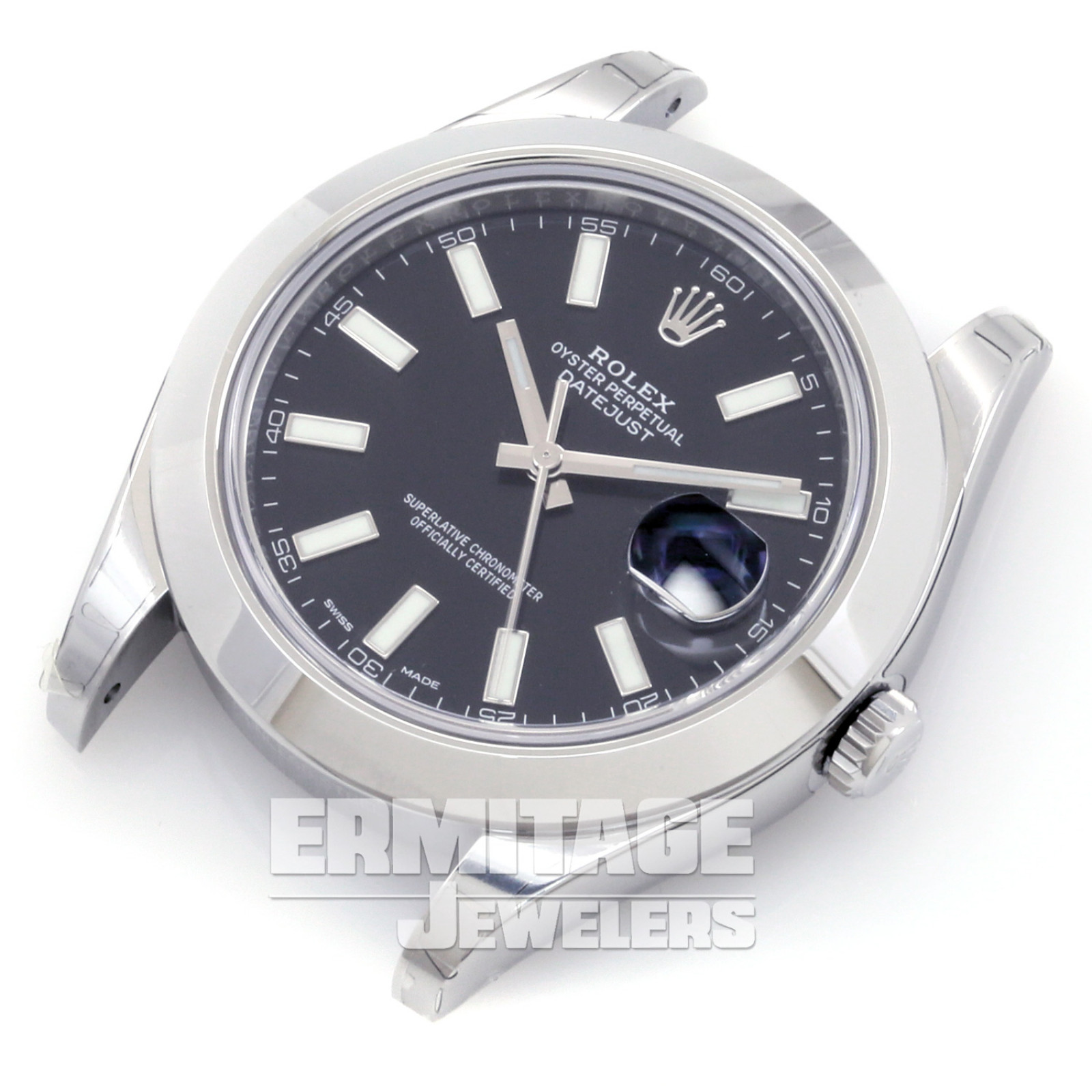 Pre-Owned Rolex Datejust 116300 with Black Dial
