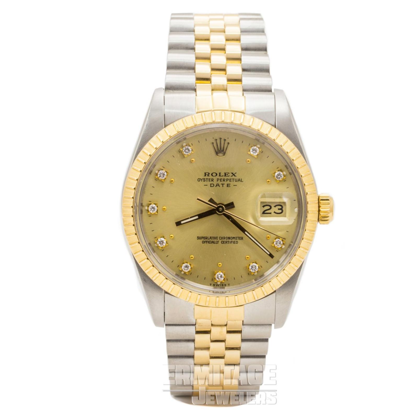 Gold & Steel on Jubilee Rolex Date 15053 34 mm