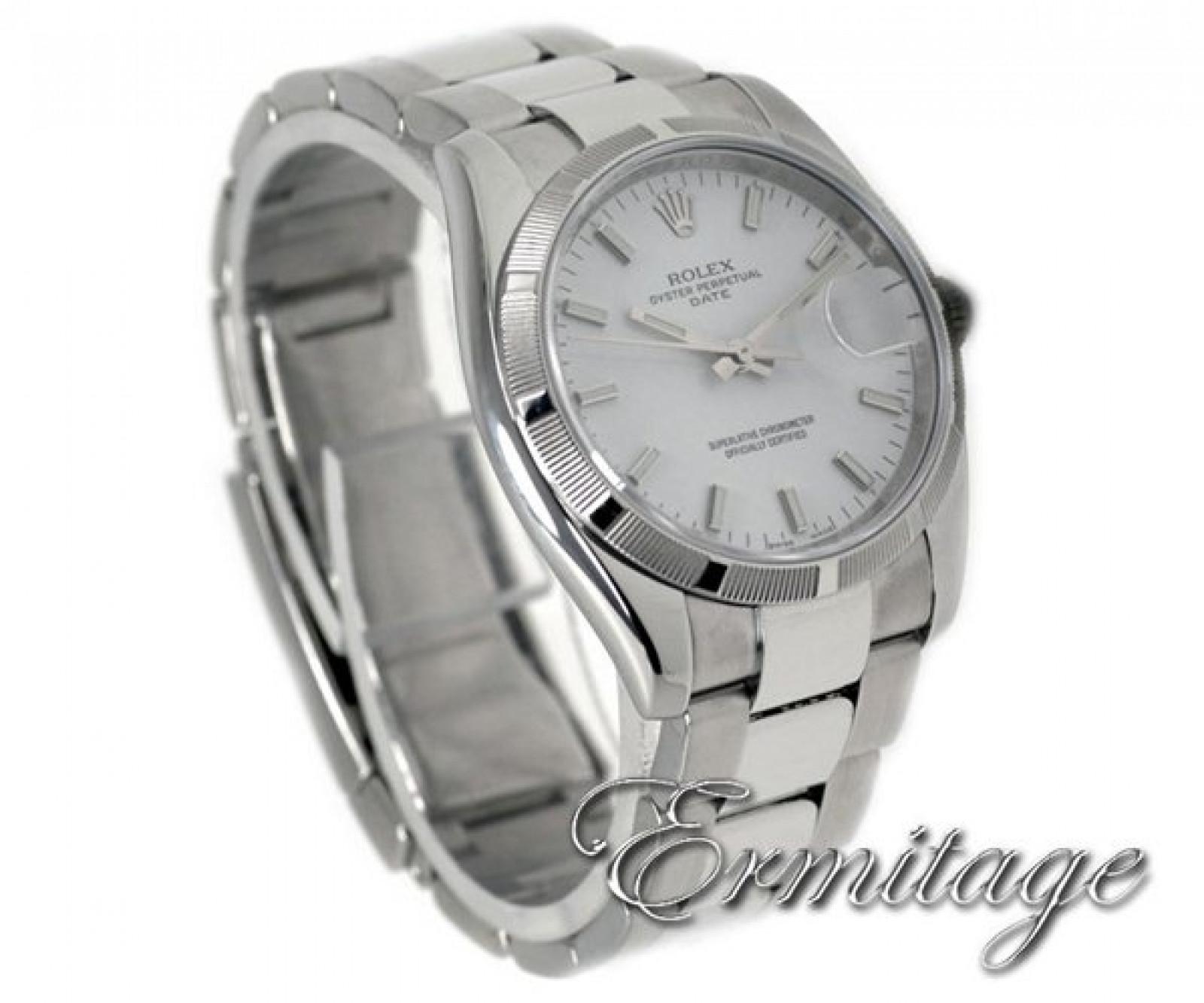 Rolex Date 115210 Steel White 2008