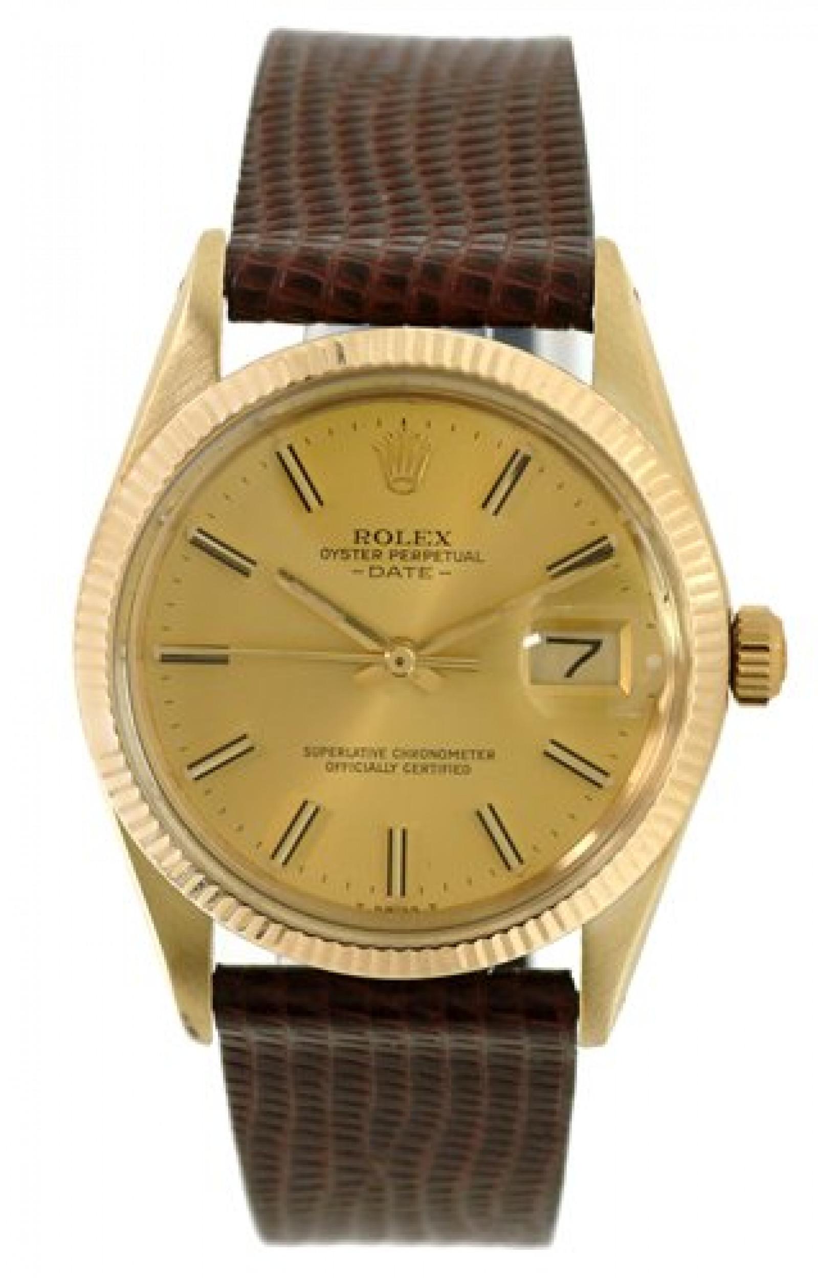 Vintage Rolex Date 15037 Gold