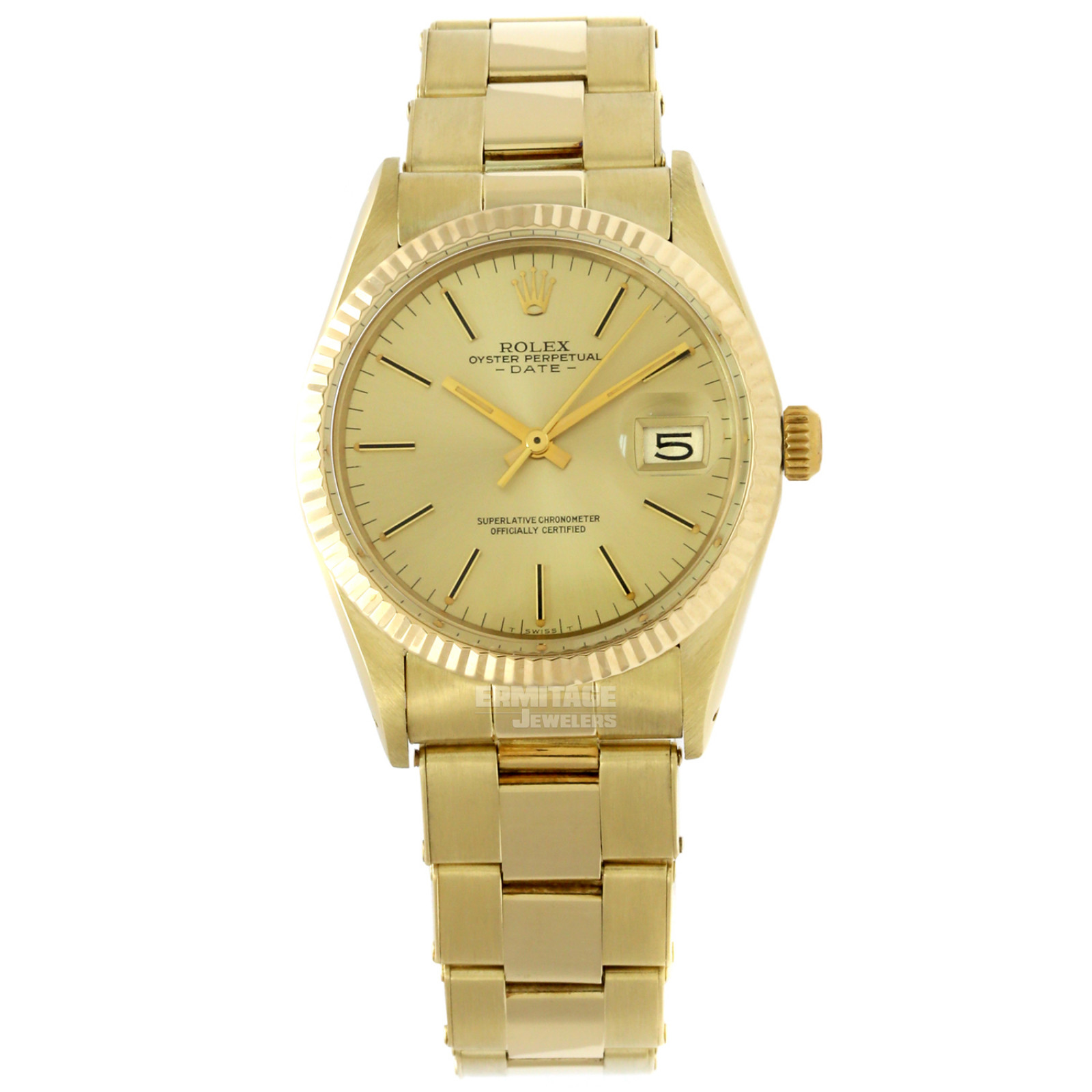 Pre-Owned Rolex Date 15037 with Champagne Dial