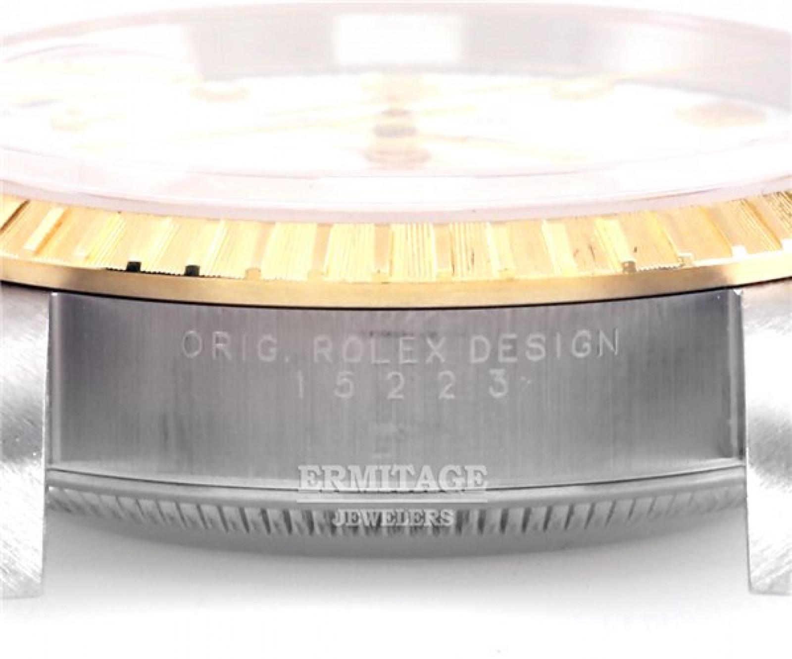Rolex Date 15223 Gold & Steel