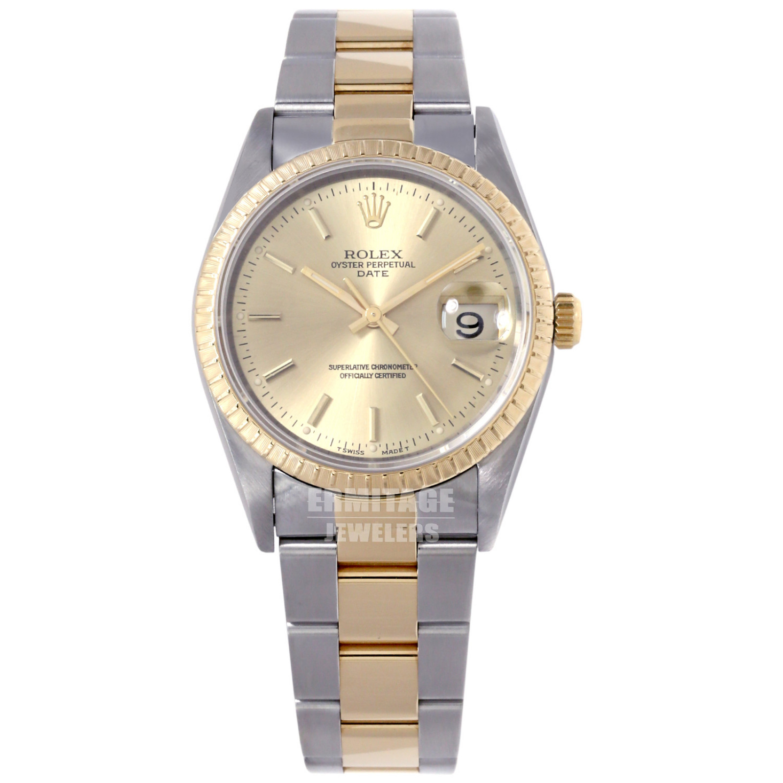 Pre-Owned Rolex Date 15223 Two Tone
