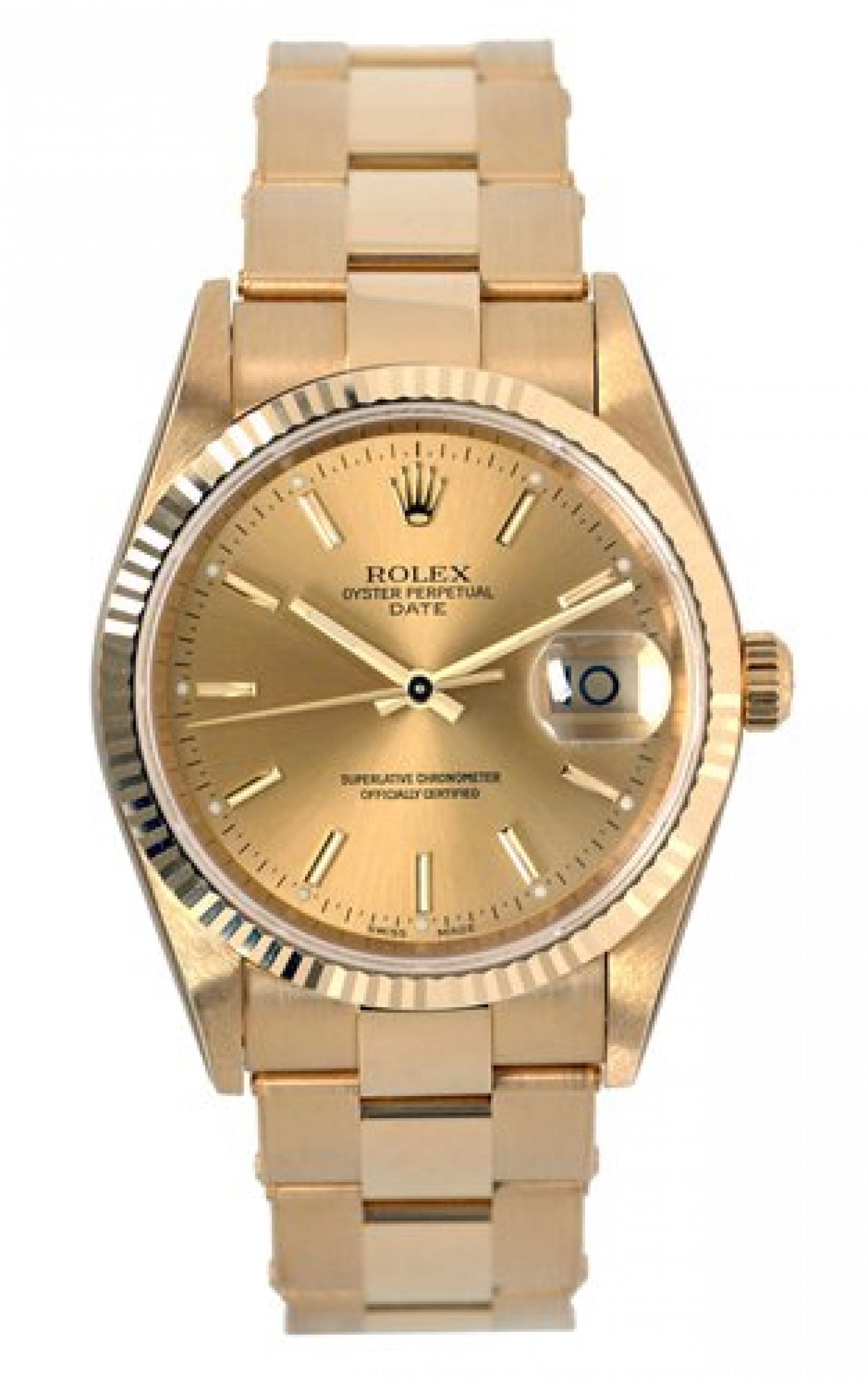 Rolex Date 15238 Gold Champagne 2005