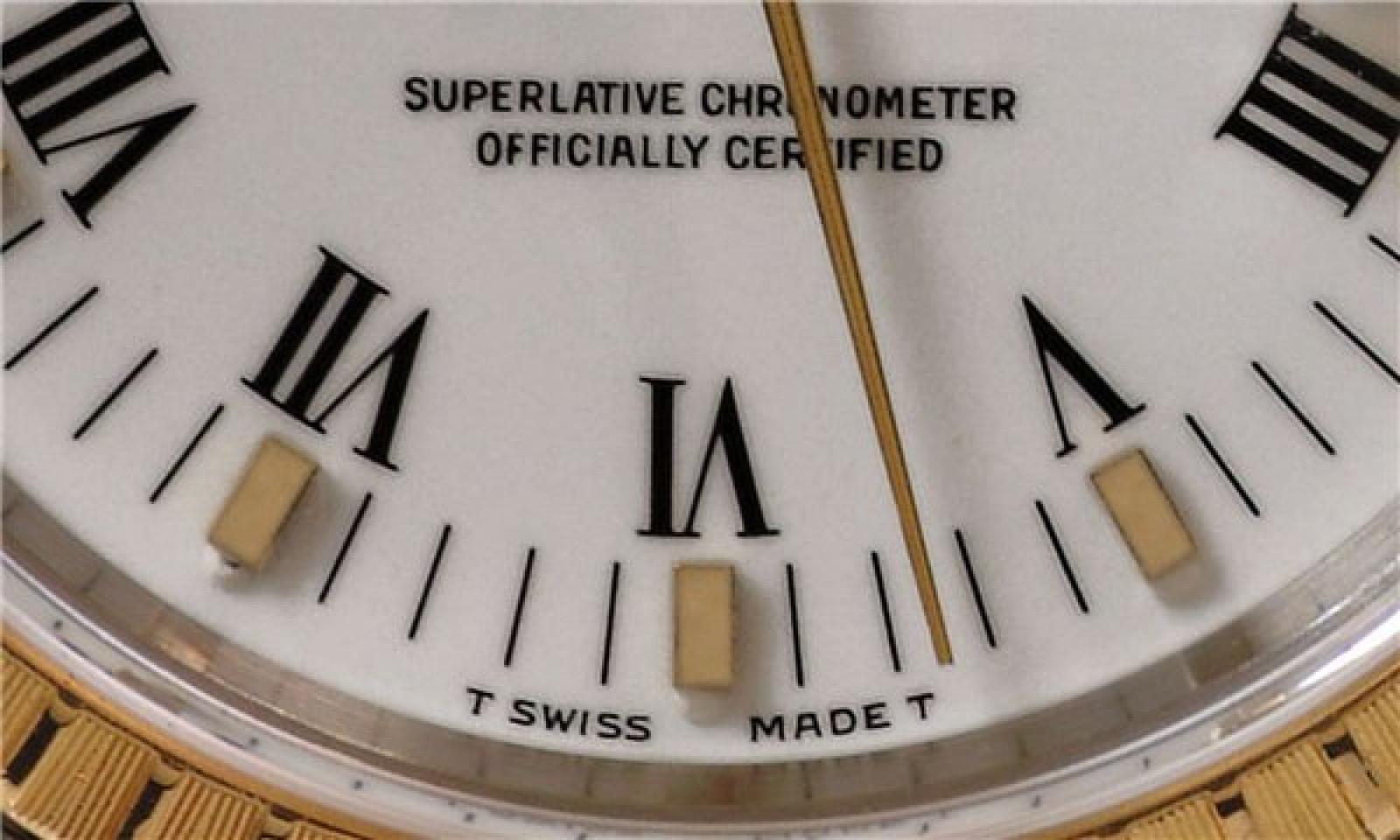 Rolex Date 15223 Gold & Steel White 1991