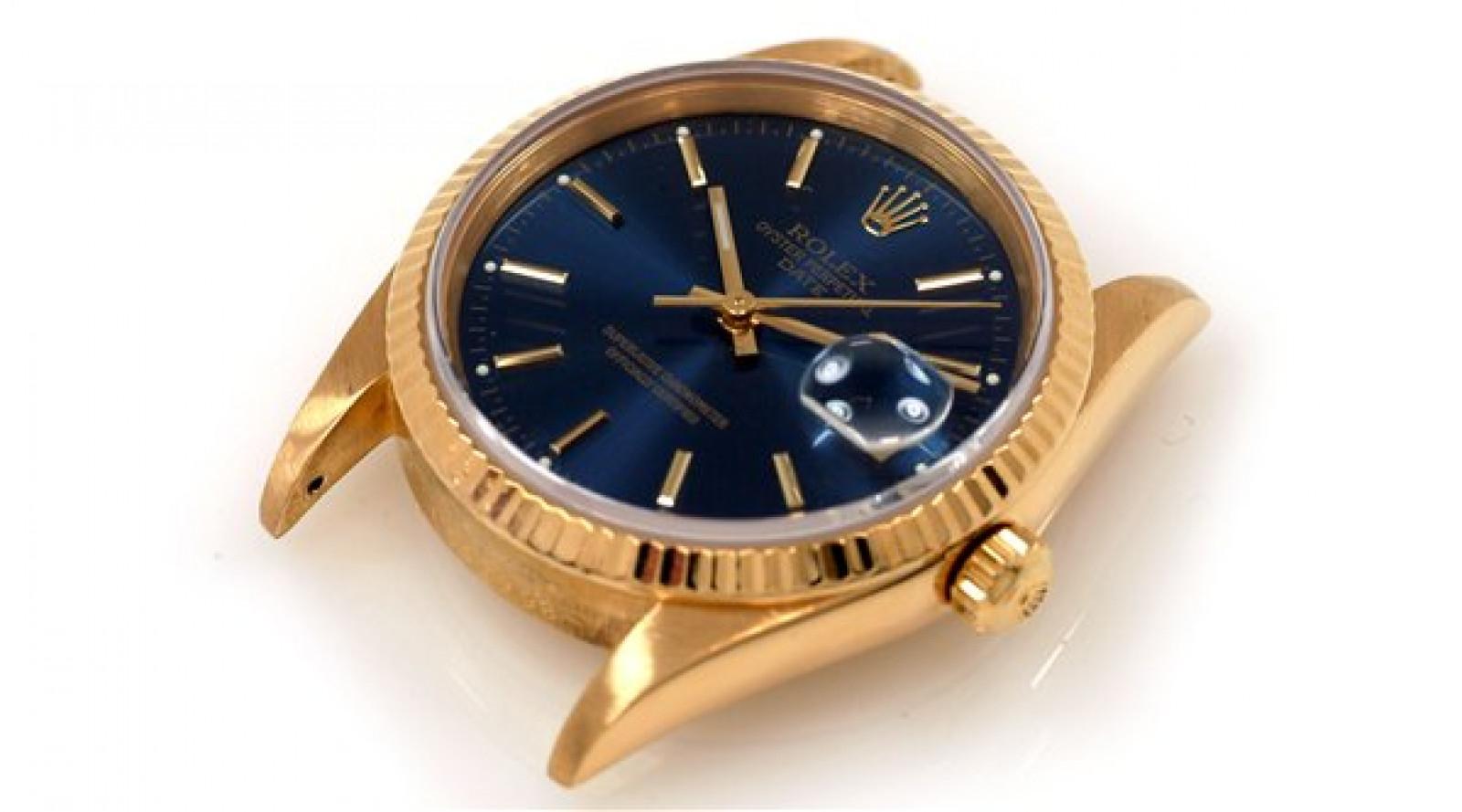 Rolex Date 15238 Gold Blue 1991