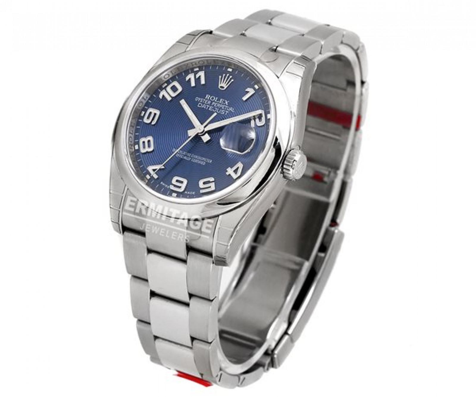 Used Rolex Datejust 116200 36 mm Blue