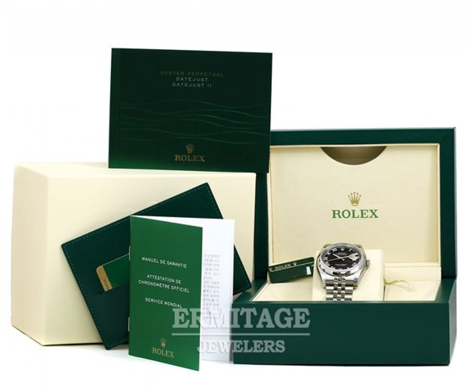 Rolex Datejust 116200 Steel with Black Dial & Roman Markers
