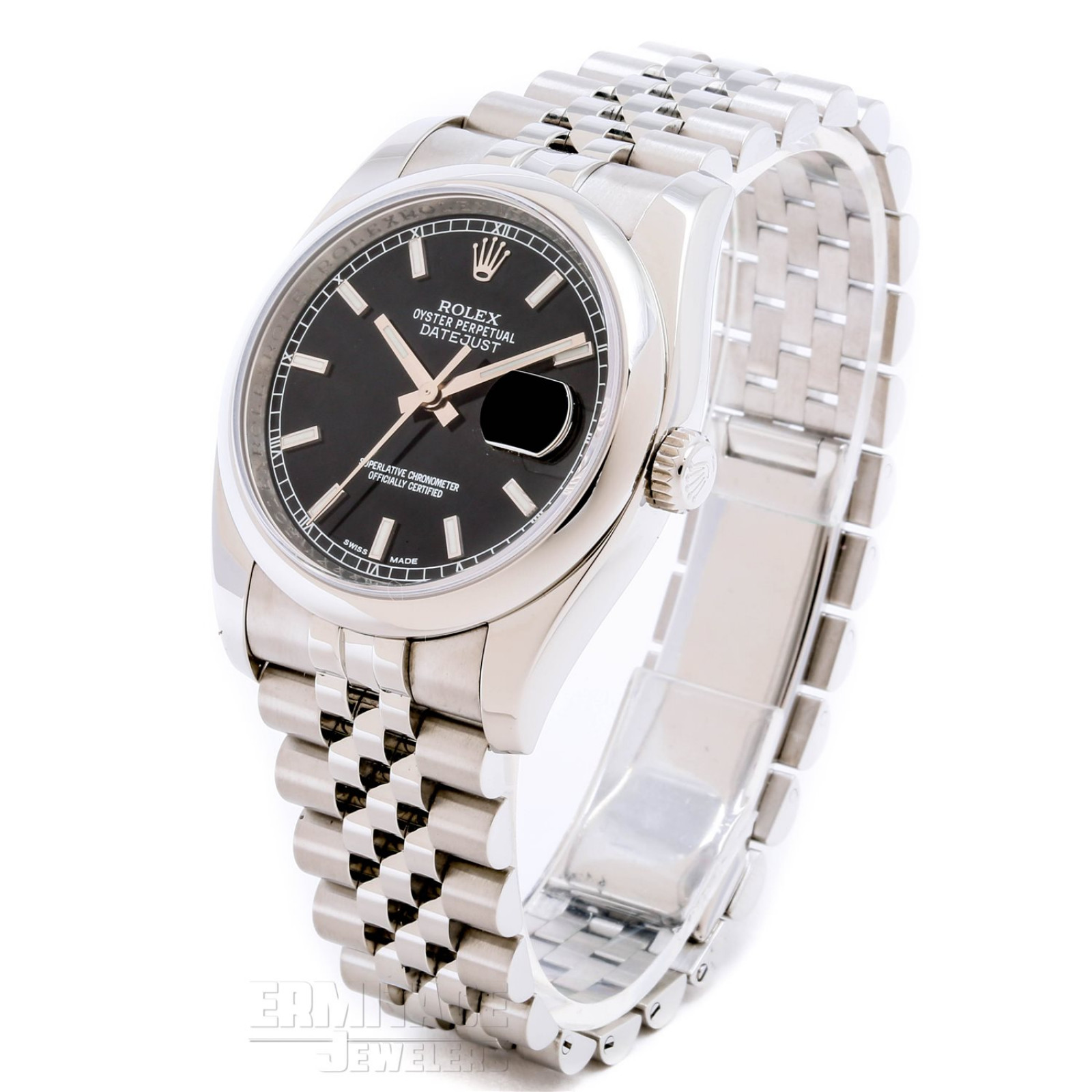 Classic Mens Rolex Datejust 116200 with Black Dial
