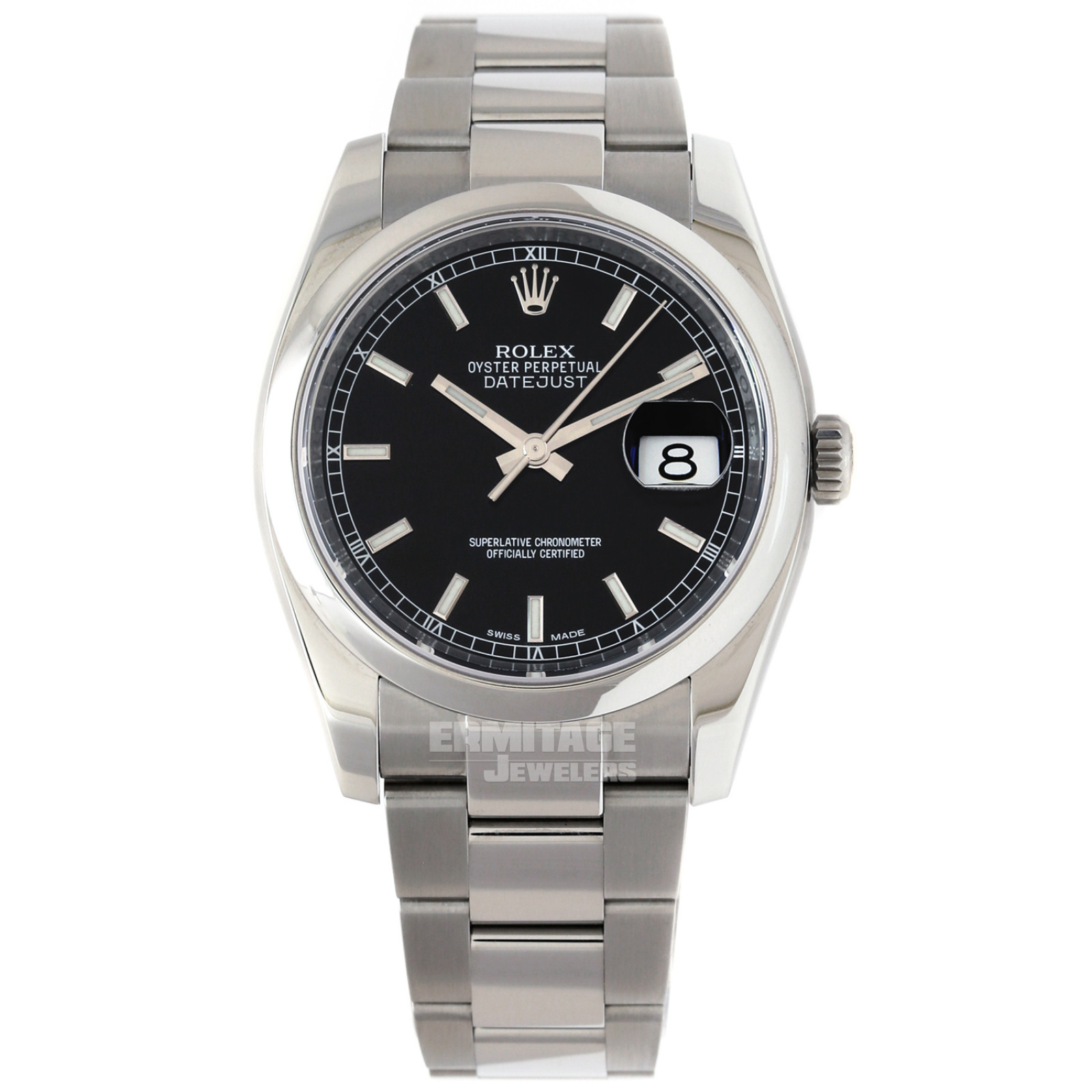 Rolex Datejust 116200 with Black Dial