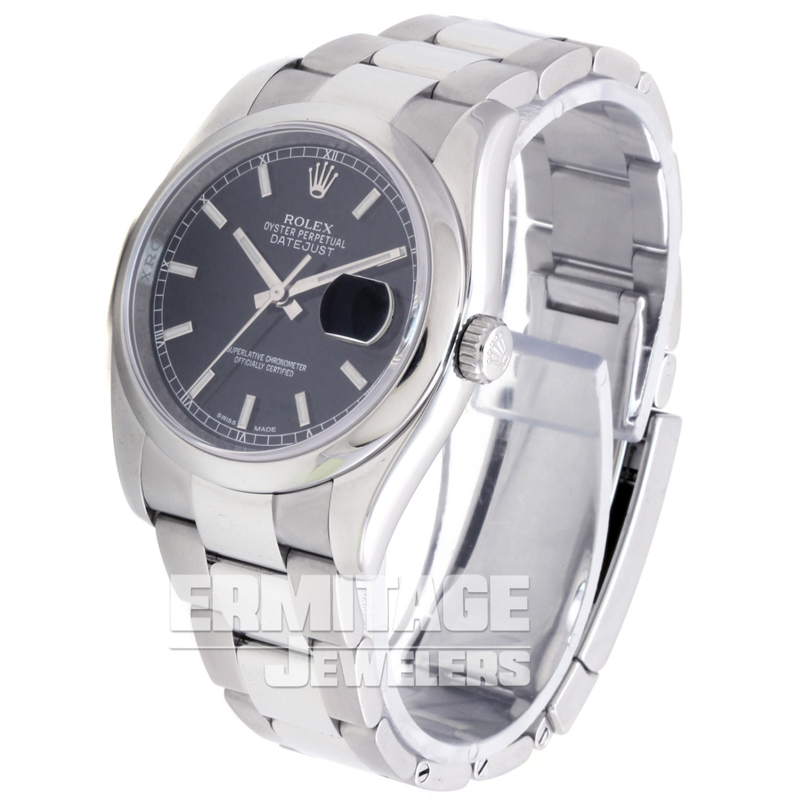 Used Rolex Datejust 116200 with Black Dial