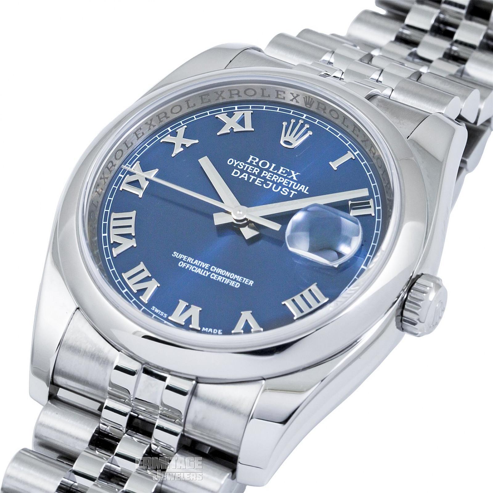 2009 Blue Rolex Datejust Ref. 116200